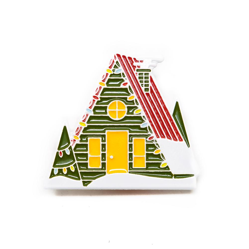 "LLS056 : Christmas A-Frame Soft enamel pin 1.3"" x 1.1"" $4"