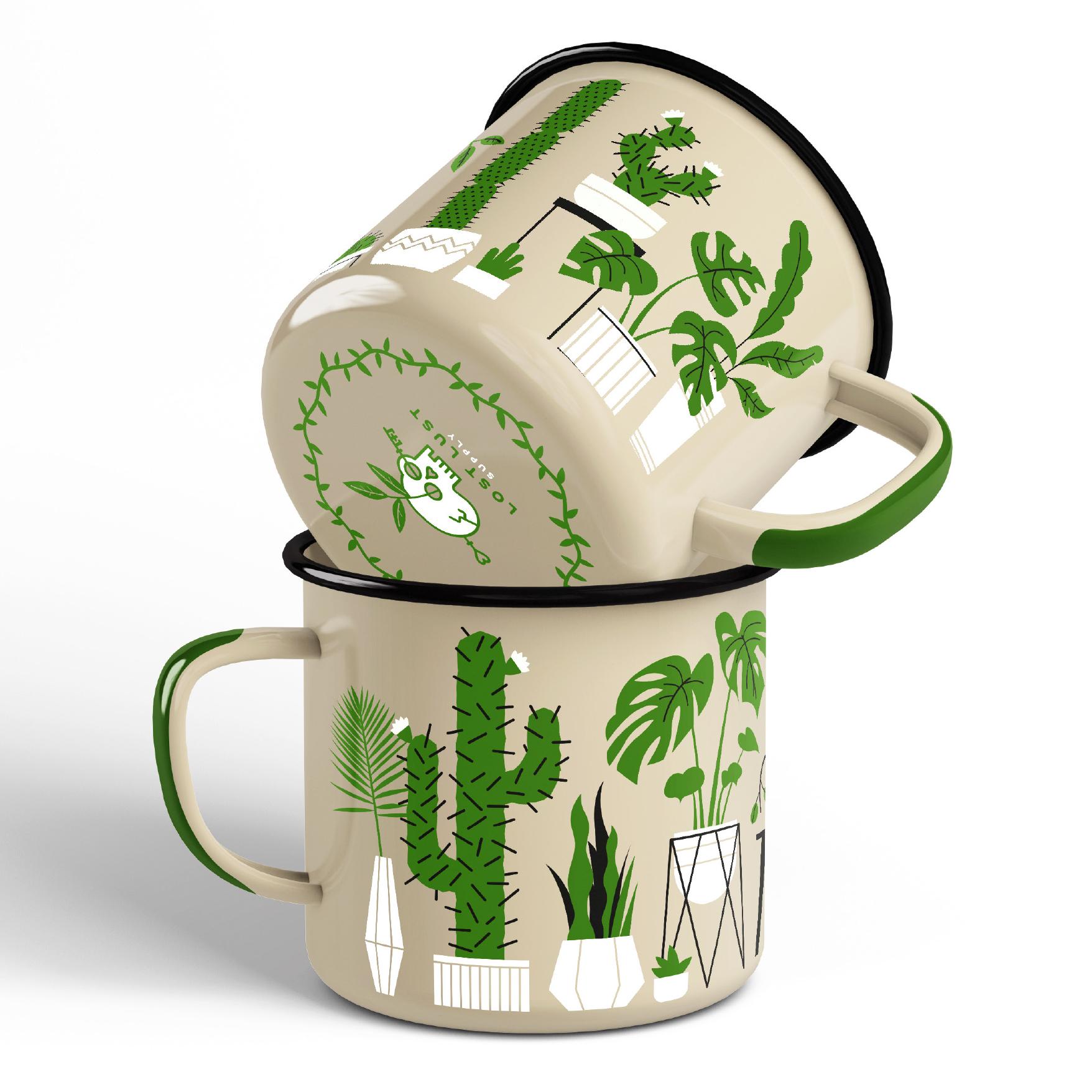 LLS171 : Synthesis Mug enamel + steel camp mug 12 oz. $18