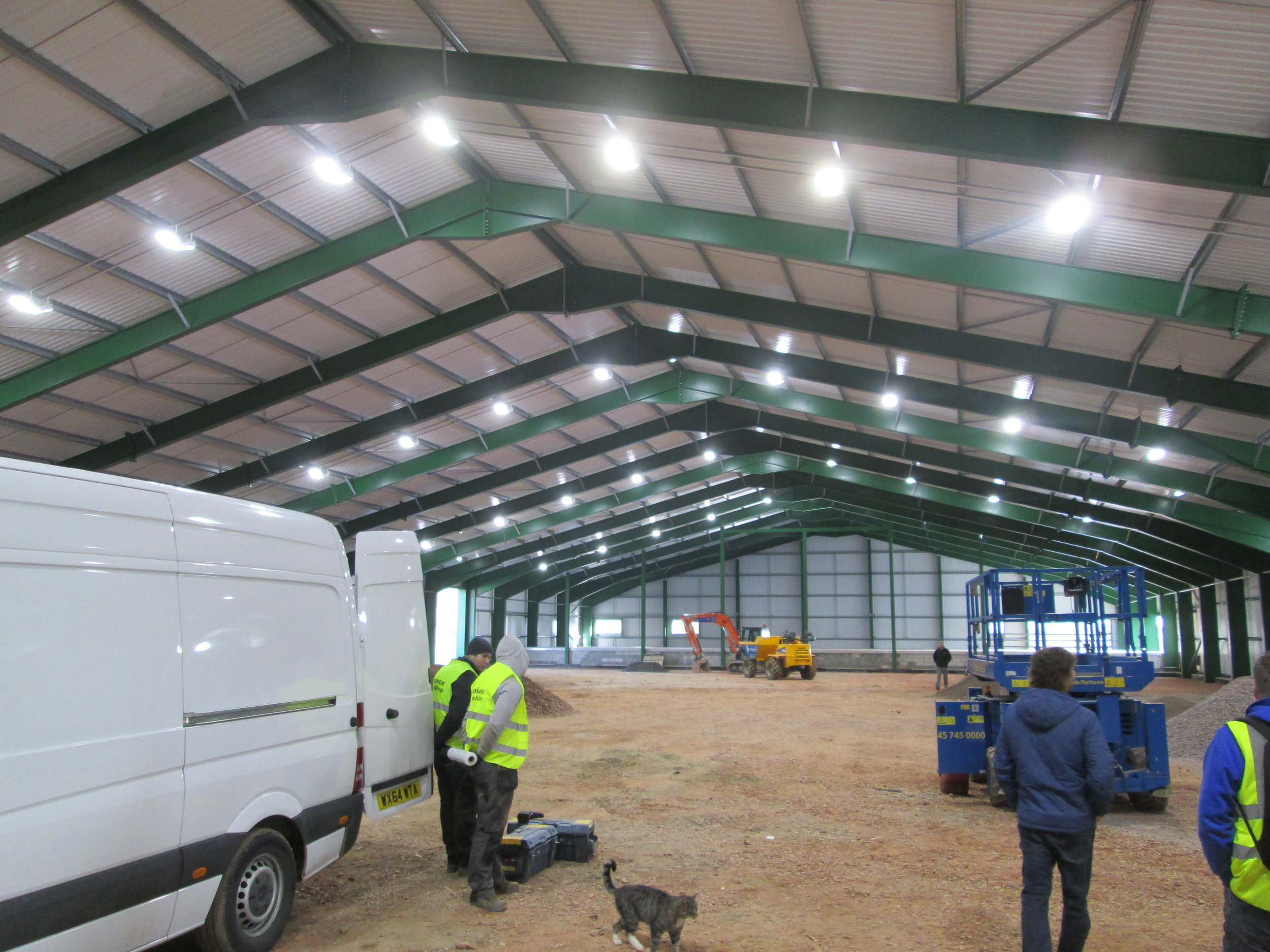 Indoor LED lights working, waiting for final commissioning
