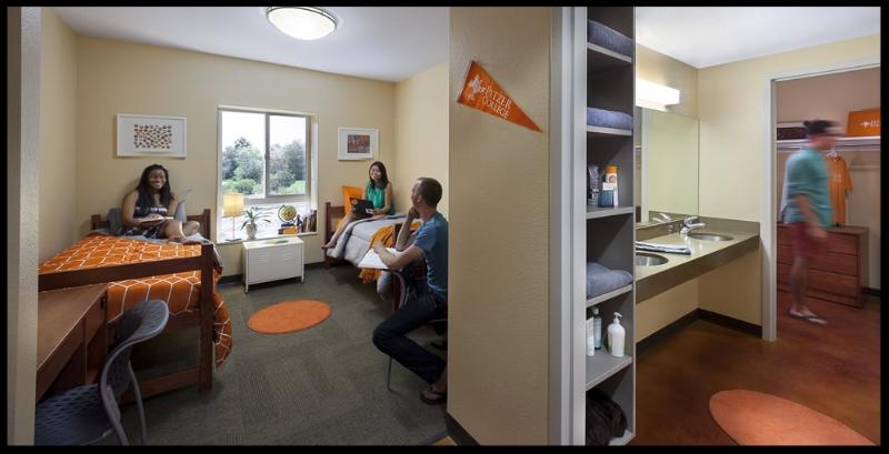 Interior of dormitory