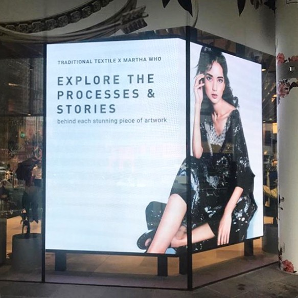 Our image for @marthawho_ spotted at @shopdesignorchard 👏🏼🤟🏼👌🏼 #digitalbillboard #work #marthawho #fashion #photography #style