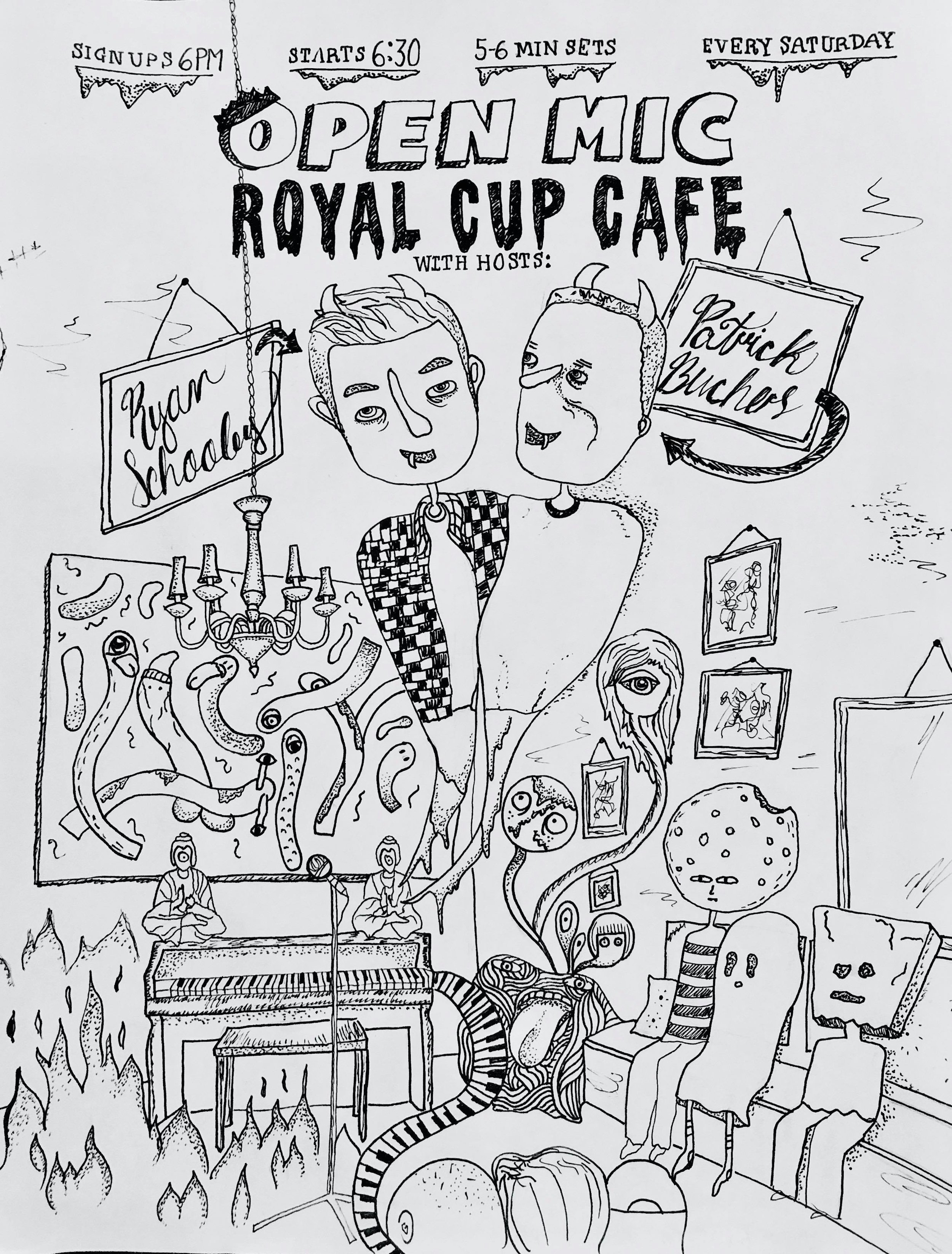 Berenice really nailed this Royal Cup Cafe flyer- that looks exactly like the room!