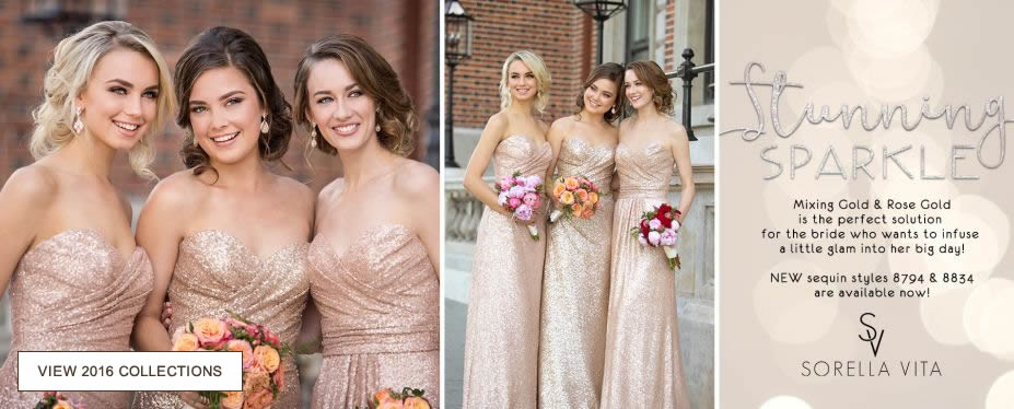 Stunning sparkle - Mixing gold and Rose gold is the perfect solution for the bride who wants to infuse glam into her big day