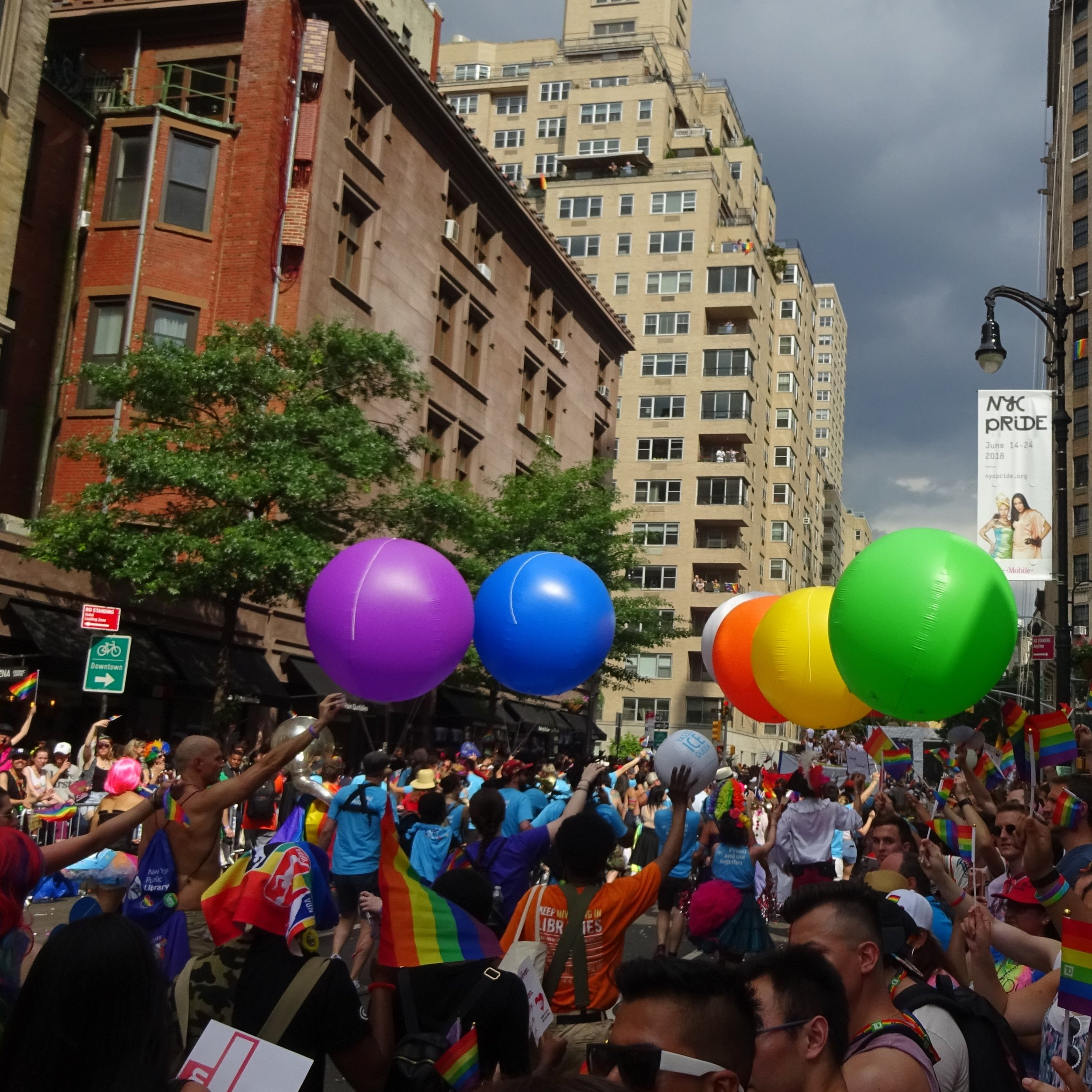 The Spectacularly Colorful 2018 Pride March Passing Along West 8th Street