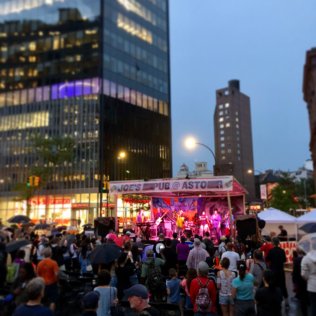 Nona Hendryx on stage at the Astor Place Black Tar Beach Party, July 27.