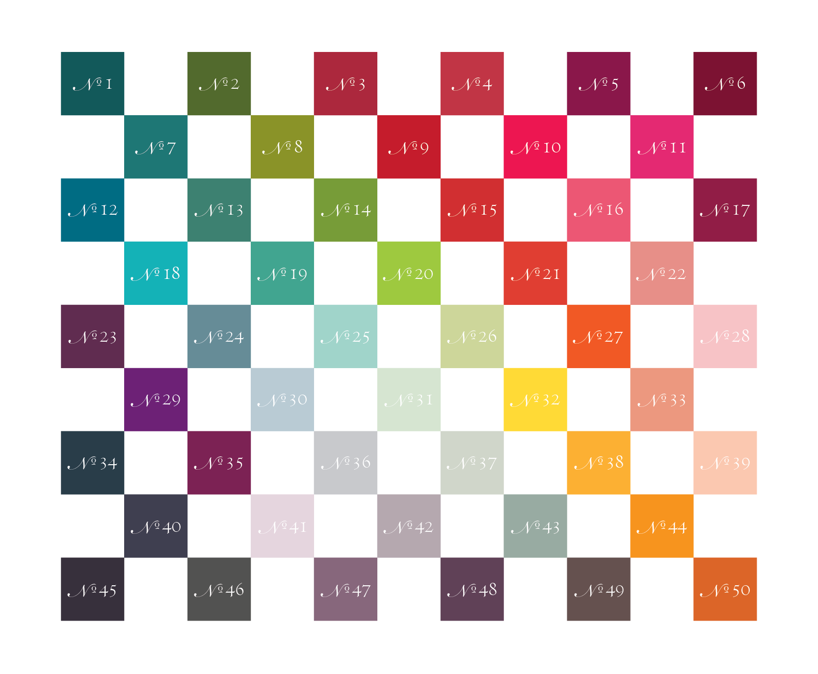 studio milledisegni custom color chart