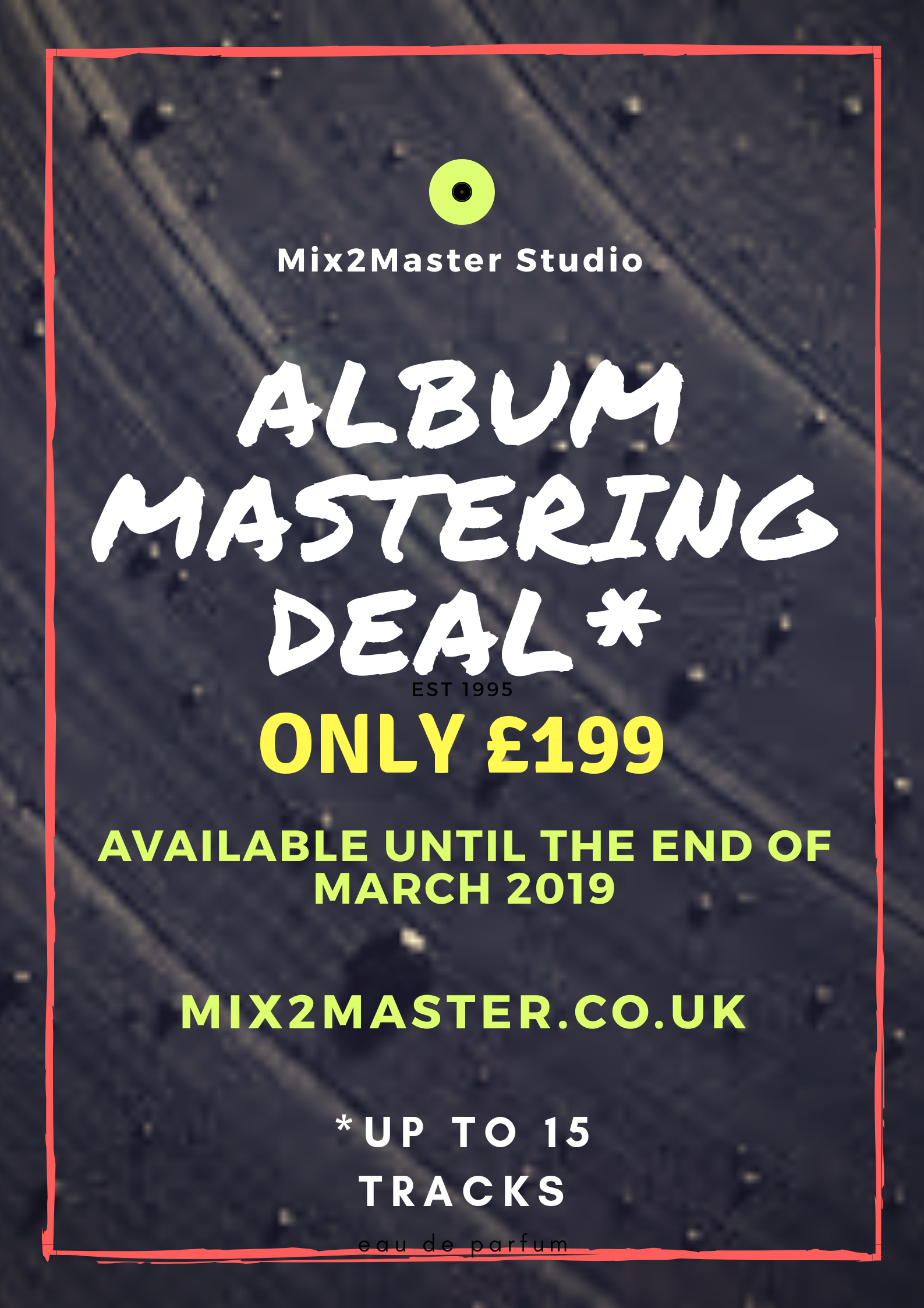 Affordable song mastering.