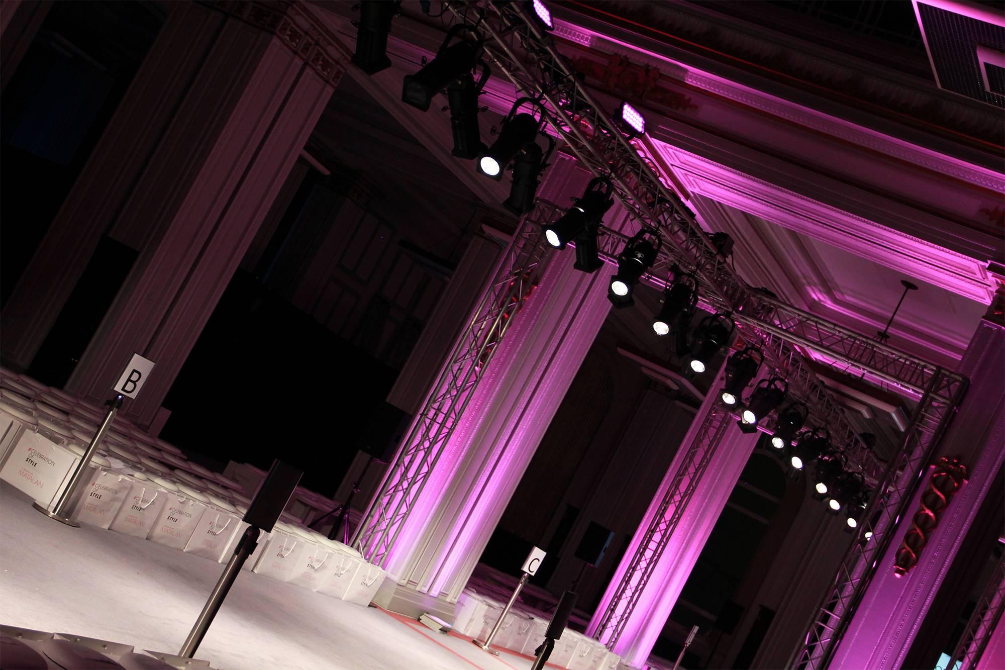 Catwalk Fashion Show Lighting Hire Liverpool