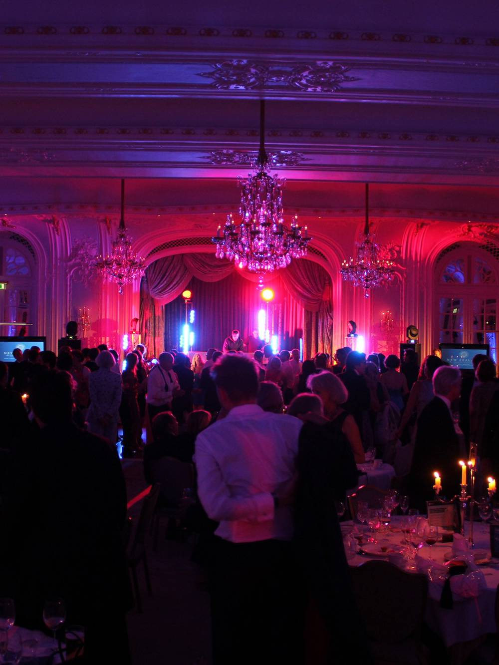 Audio Visual for a Gala Dinner Production at The Savoy Hotel London