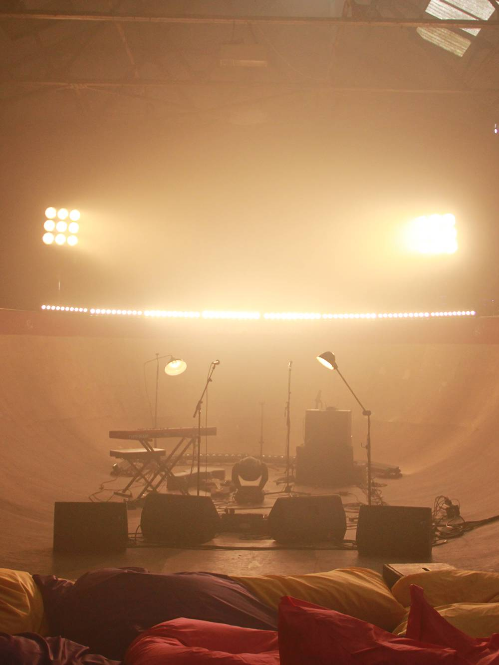 Lighting and sound for a concert in Liverpool  as part of a UK tour