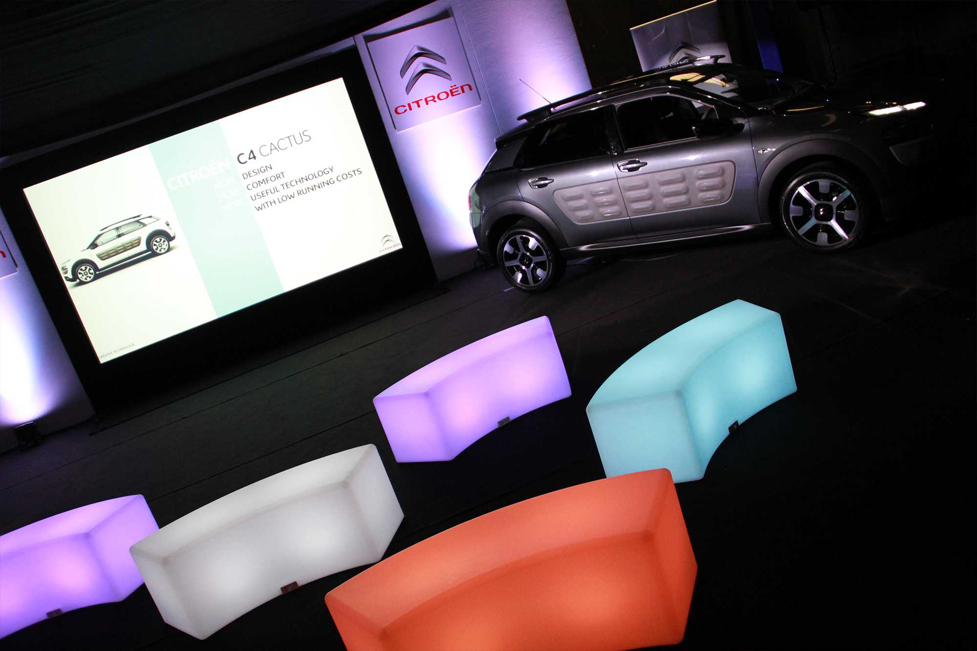 Audio Visual & Exhibition Production for a vehicle launch event near Birmingham