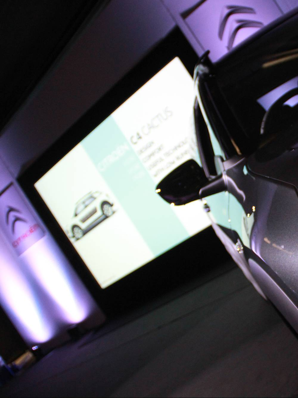 Projection audio visual and lighting hire for an exhibition near Birmingham.