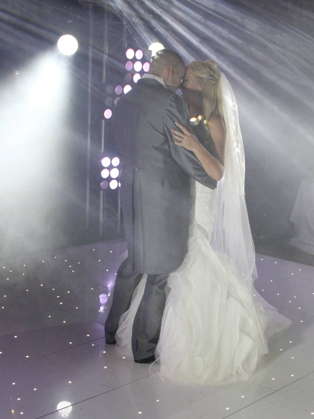 First Dance Wedding Lighting and Dancefloor at Peckforton Castle Chester