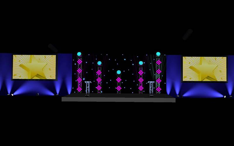 Stage Set Design for an Awards Ceremony in Manchester