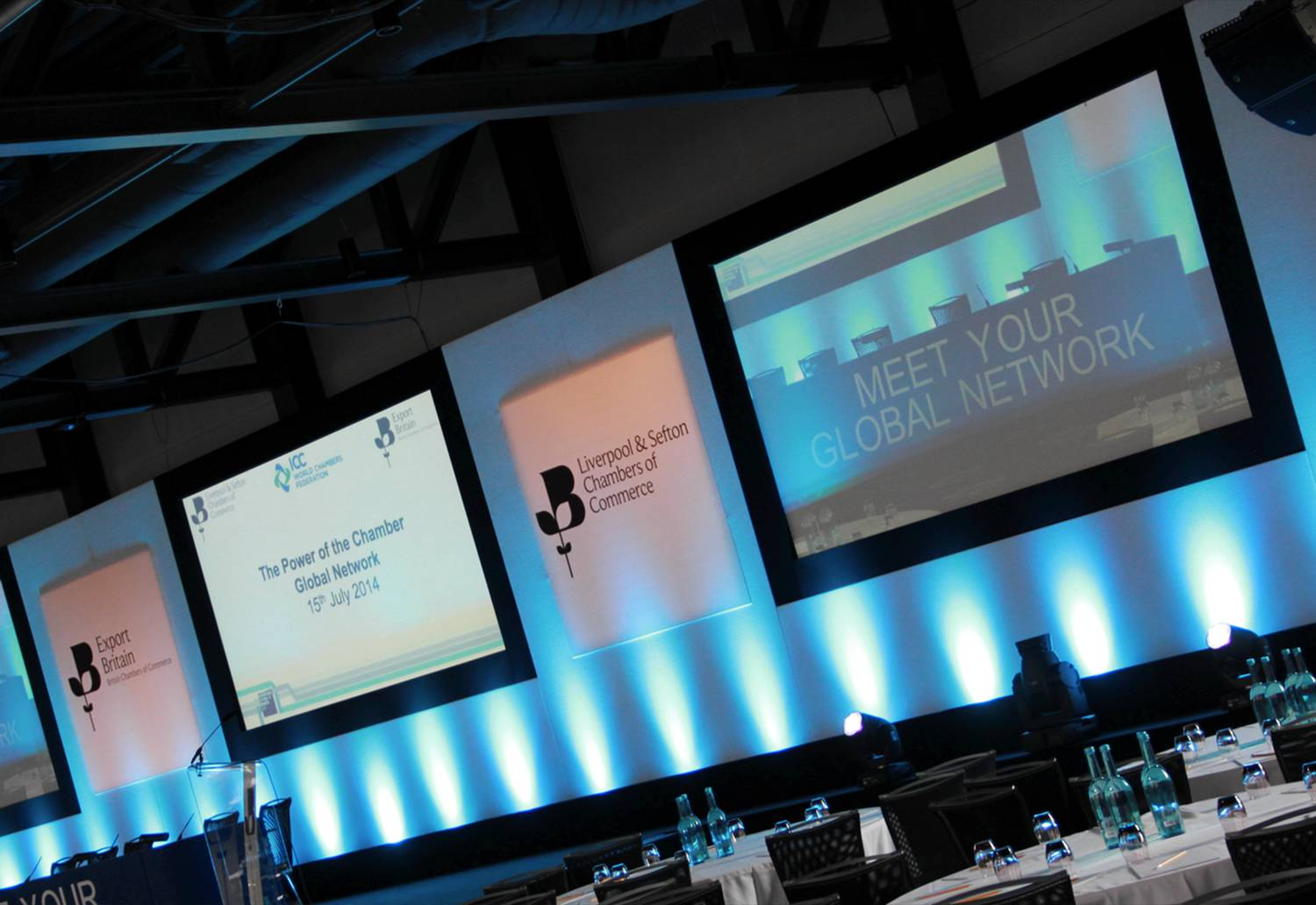Conference Stage Set & AV Hire at Titanic Hotel