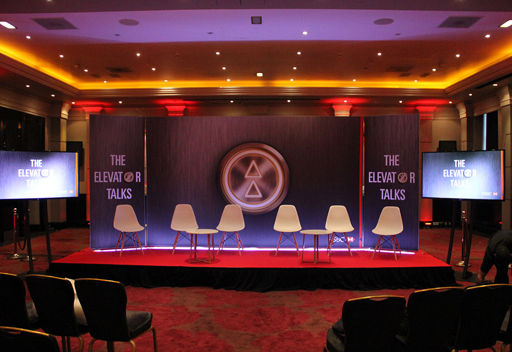 AV Hire including Plasma Screens, Conference Set and Staging at Radisson Blue Edwardian Manchester