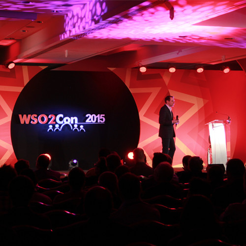 Staging and AV at a conference produced by Stagetex in London.