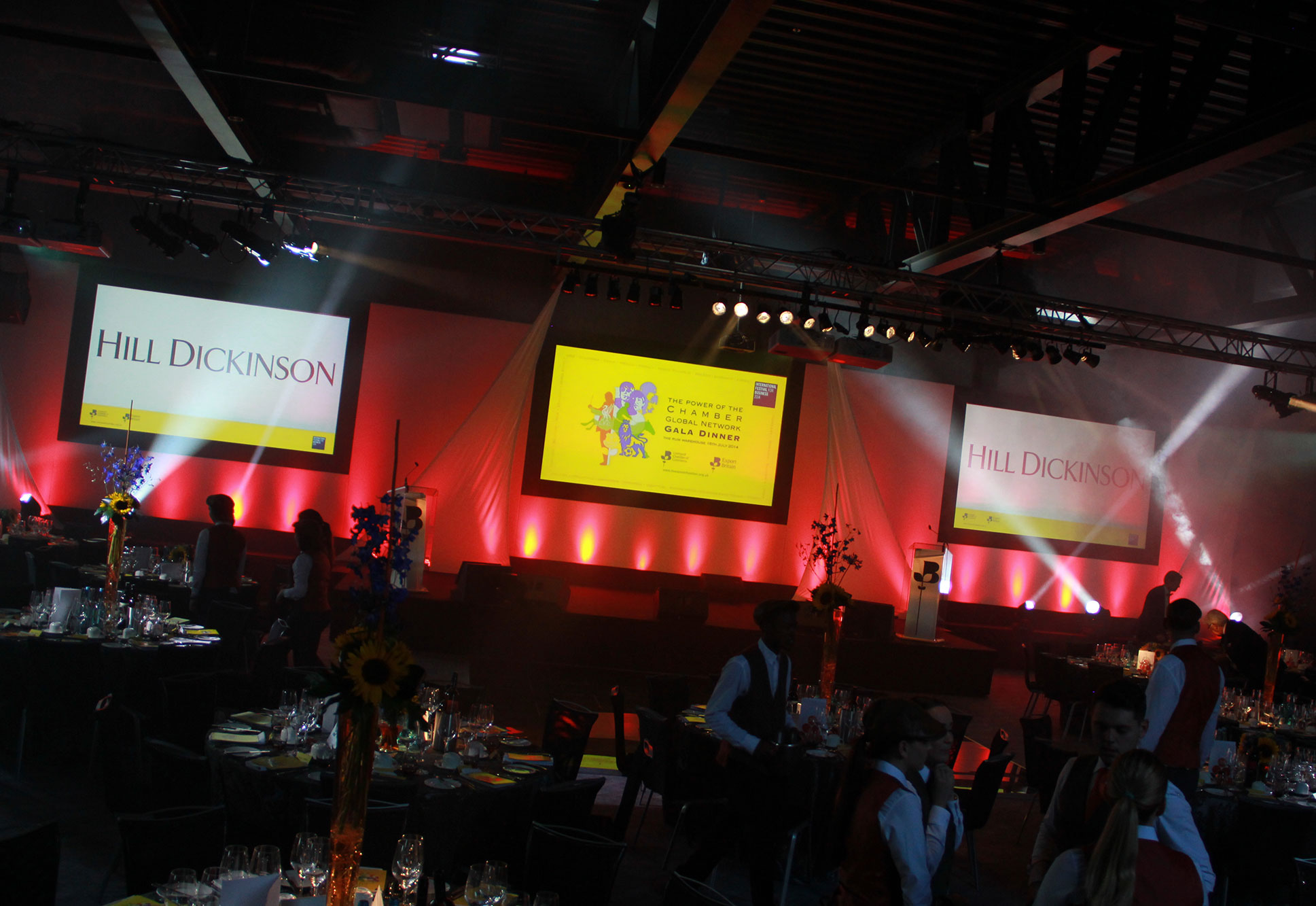 Corporate Event Production, Audio Visual Hire & Staging at Rum Warehouse Liverpool