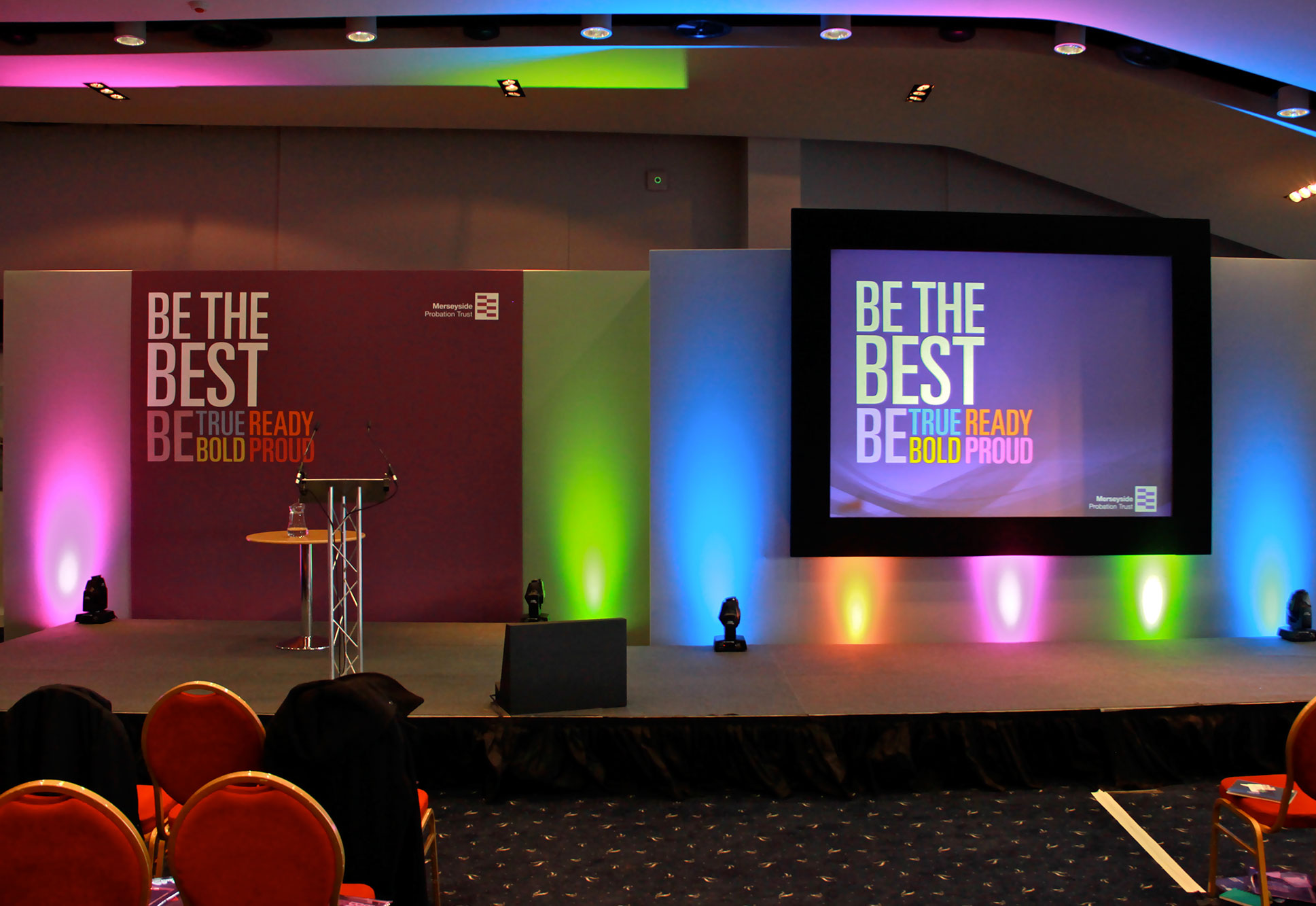 Conference Stage Set and AV Production at Aintree Racecourse