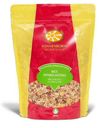 0% de sucres ajoutés: Sonnenkorn muesli à l'épeautre LE BOURGEON BIO, 360 g