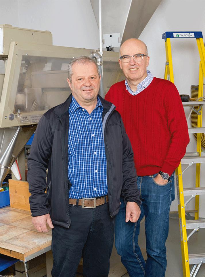 Die Sonnenkorn-Naturprodukte-Macher: Hubert Bürgi (links) und Urs Hüttinger.