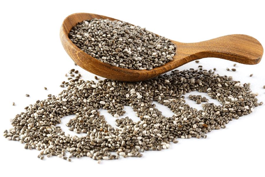 Chia-Samen vor der Dextrinierung