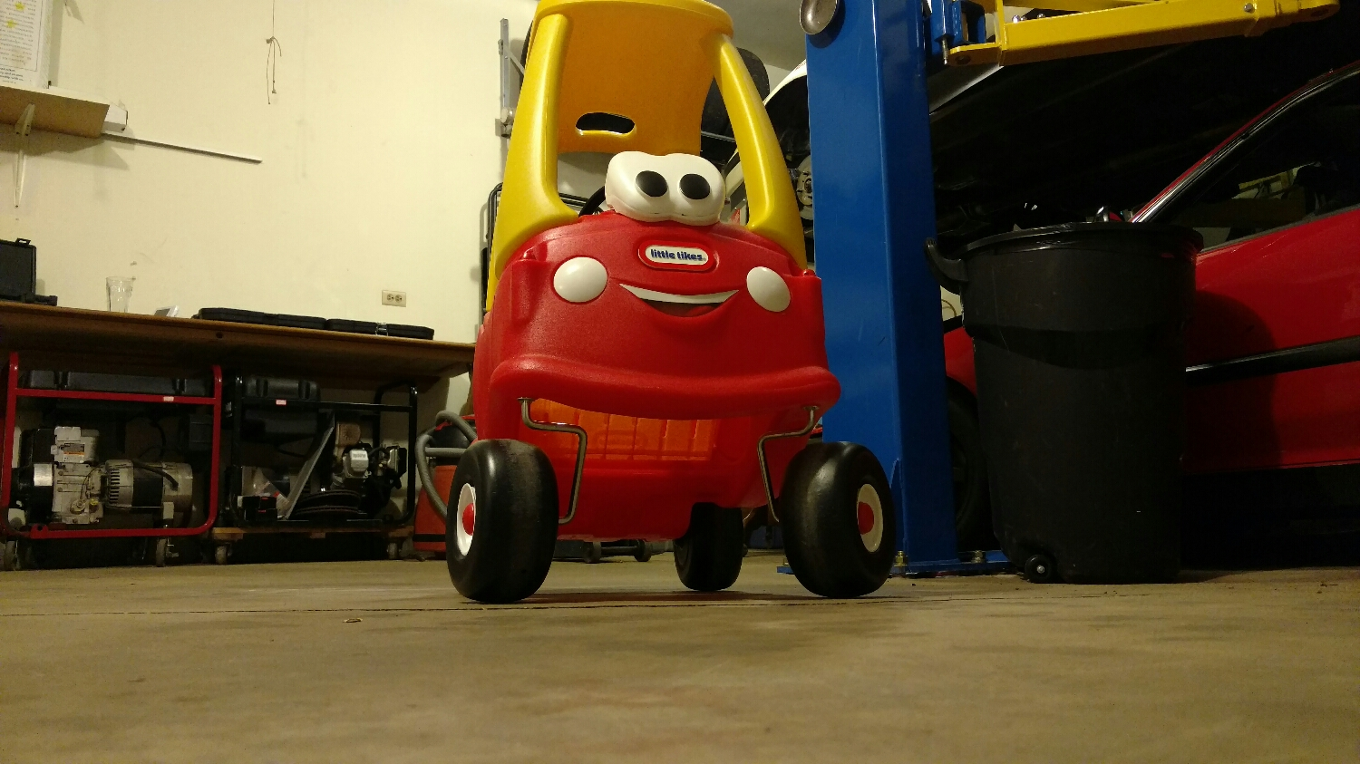 Fricken cozy coupe needs some toe out.