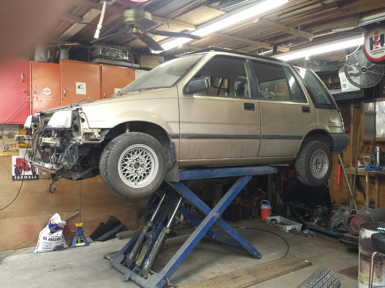 Odd old wagon is odd.