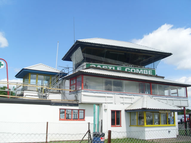 the tower at historic Castle Combe circuit.  image via Trackreviewers.com