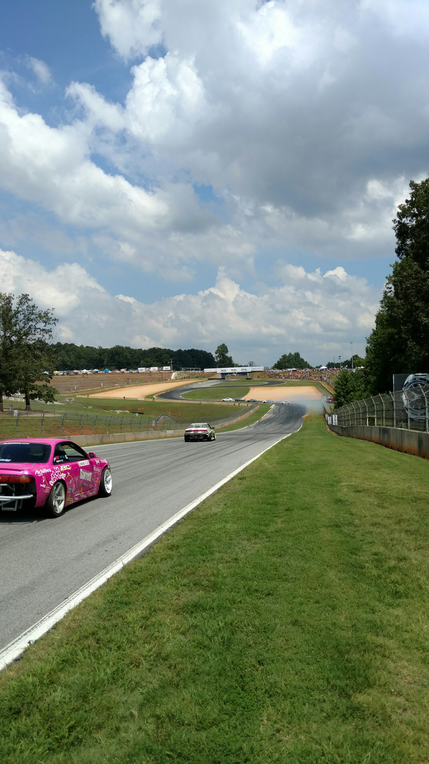 """drift """"grid"""" was in the long straight. We'd release cars from there. We'd also take super lame photos."""