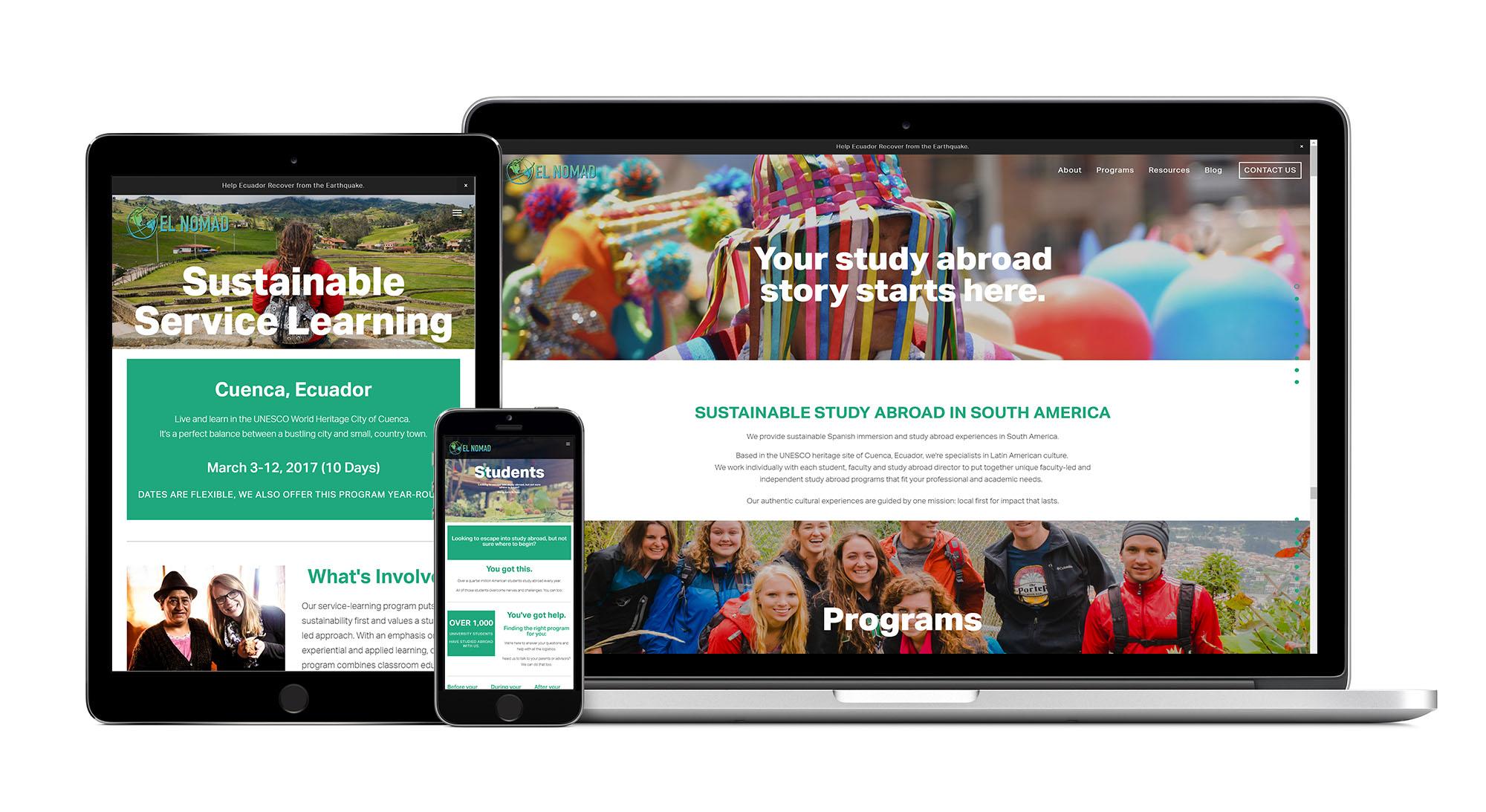El Nomad website design by ZATWIC.