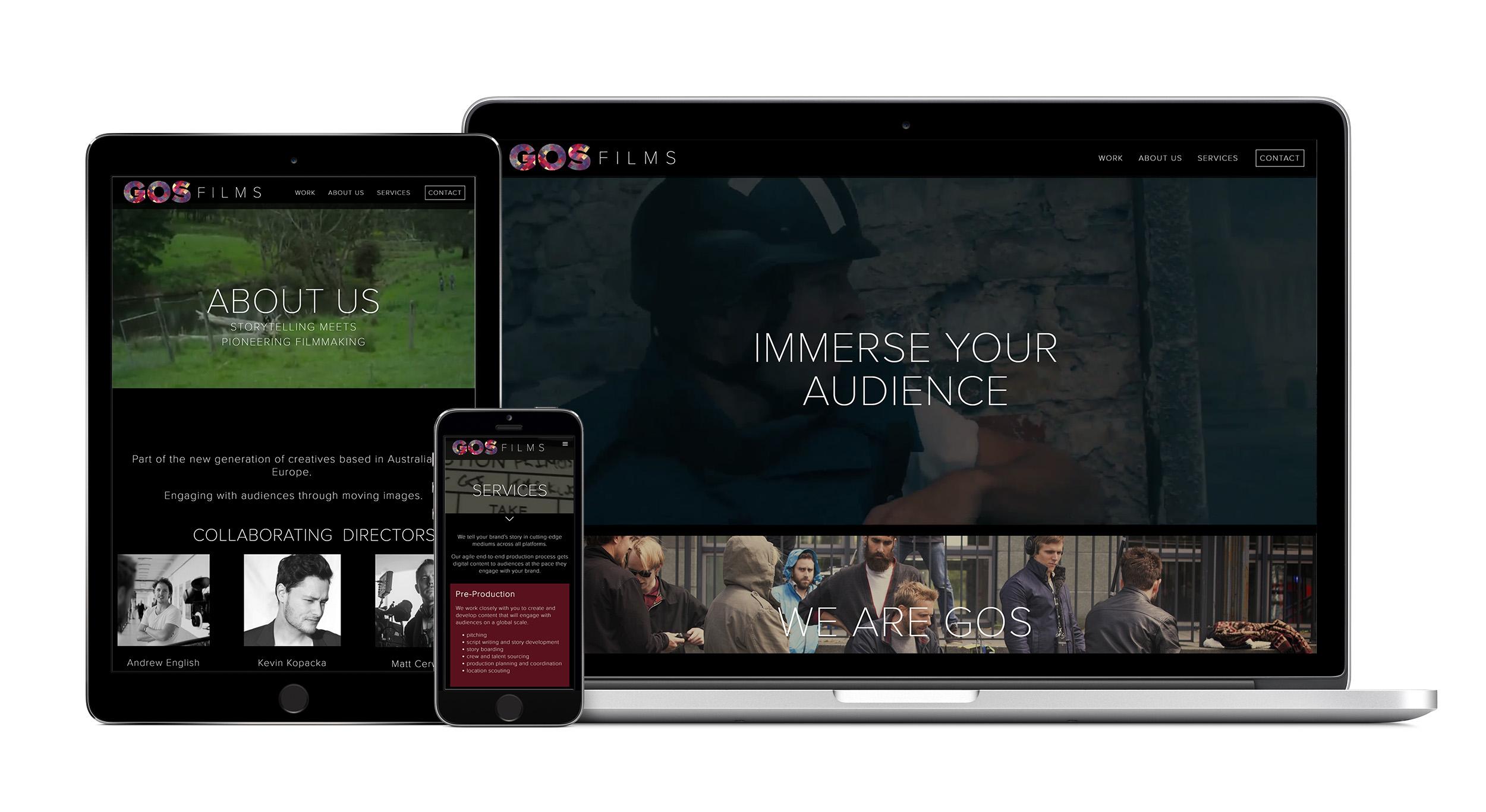 GOS Films Website Design
