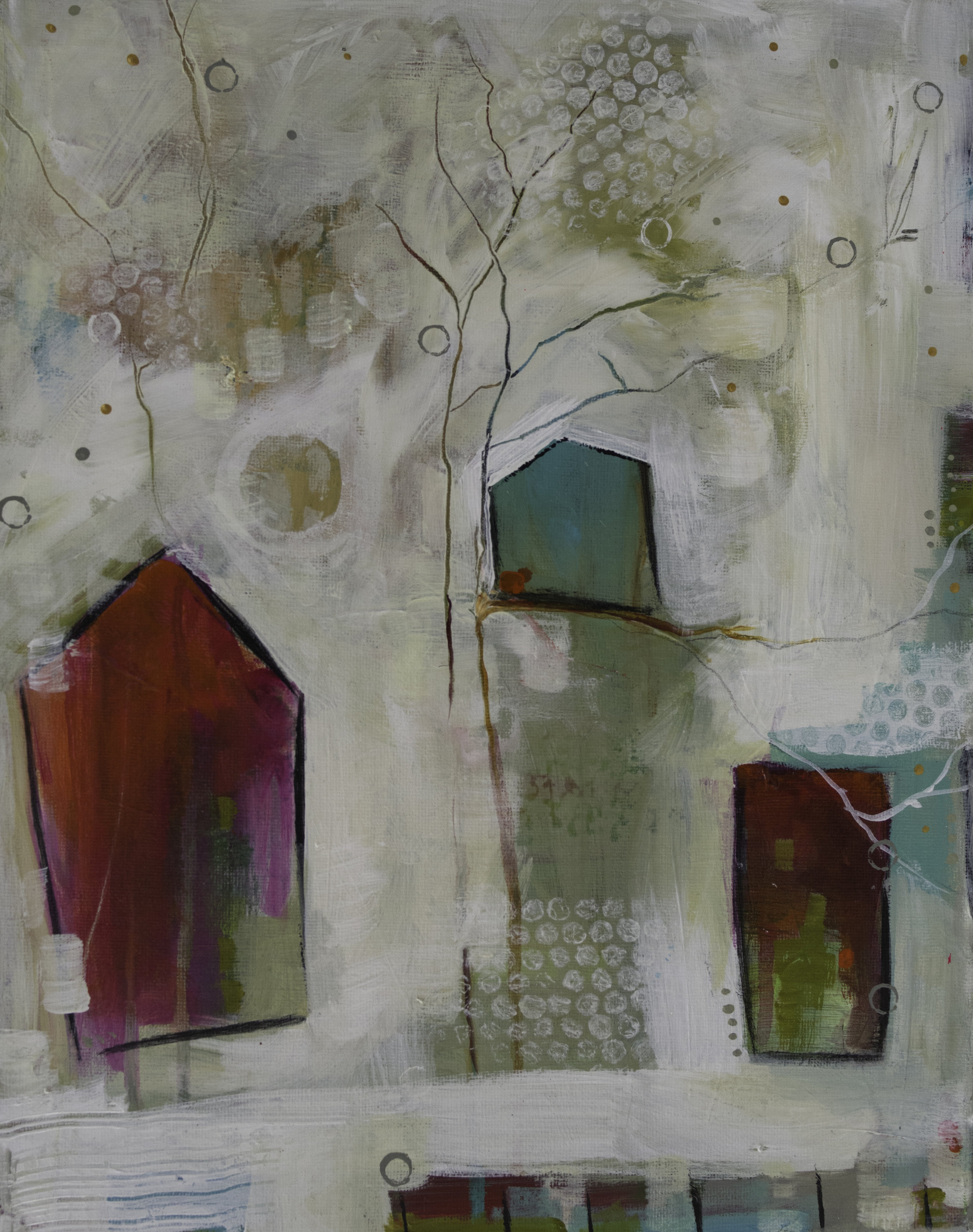 """""""Village in Winter"""" 11 x 14 $170"""