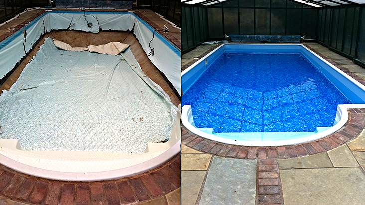 Before and After Liner Replacement