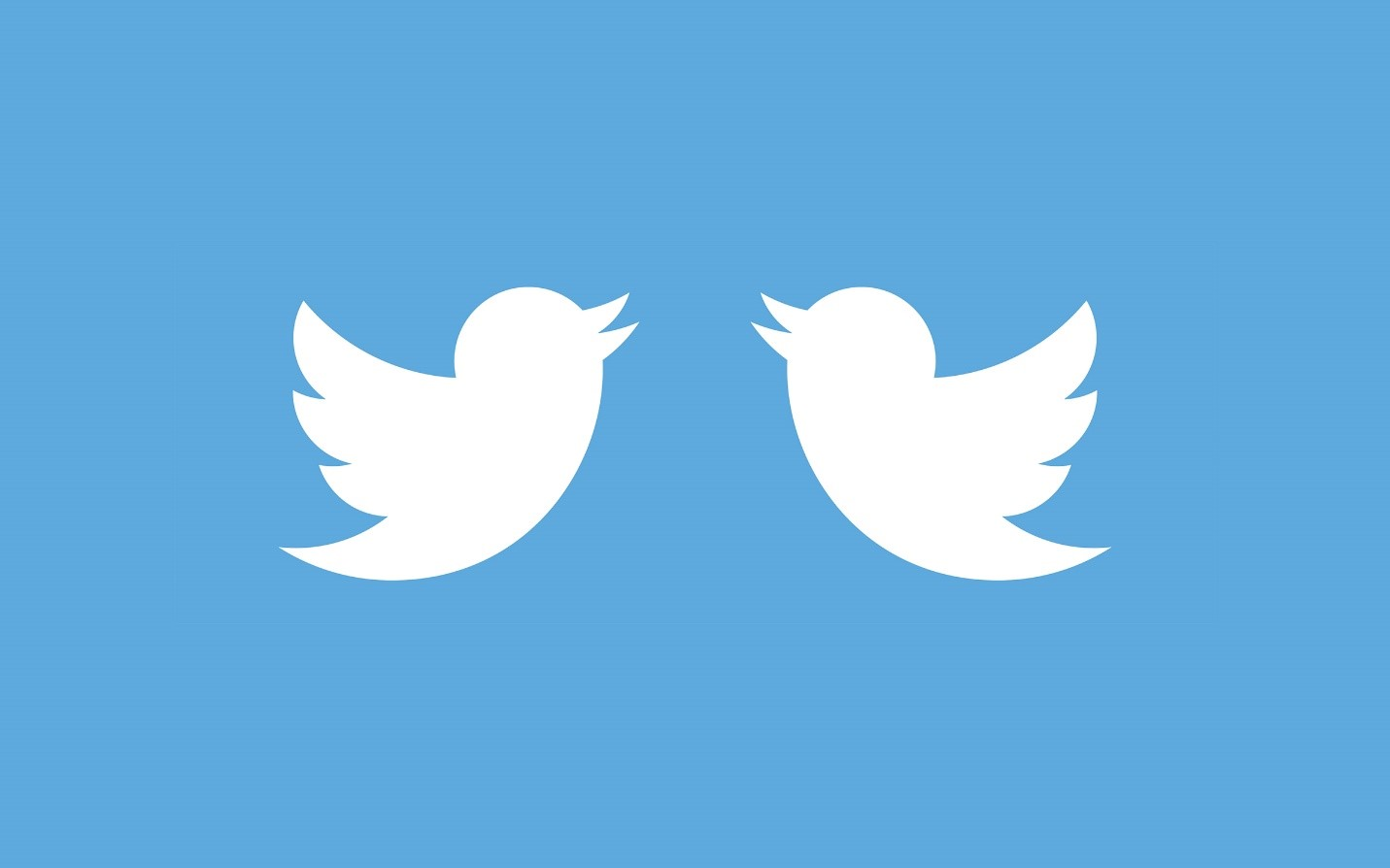 What two Twitter accounts might look like.