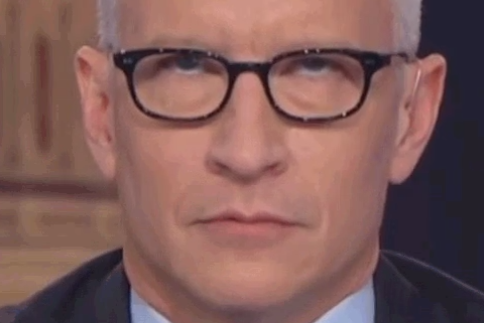 CNN's Anderson Cooper demonstrates the eye roll