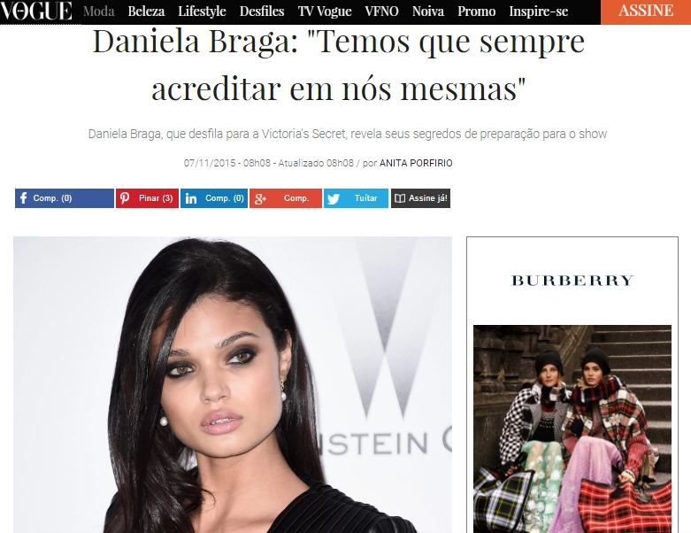 Click here to read the article:  http://vogue.globo.com/moda/moda-news/noticia/2015/11/daniela-braga-temos-que-sempre-acreditar-em-nos-mesmas.html