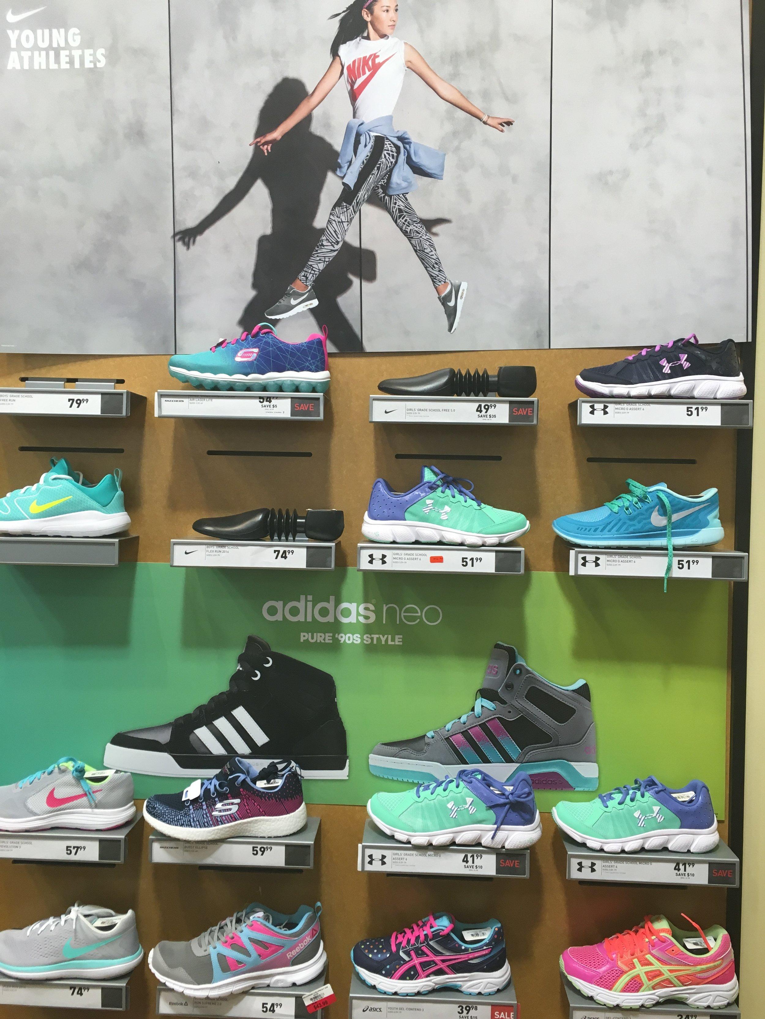 cute kids athletic shoes