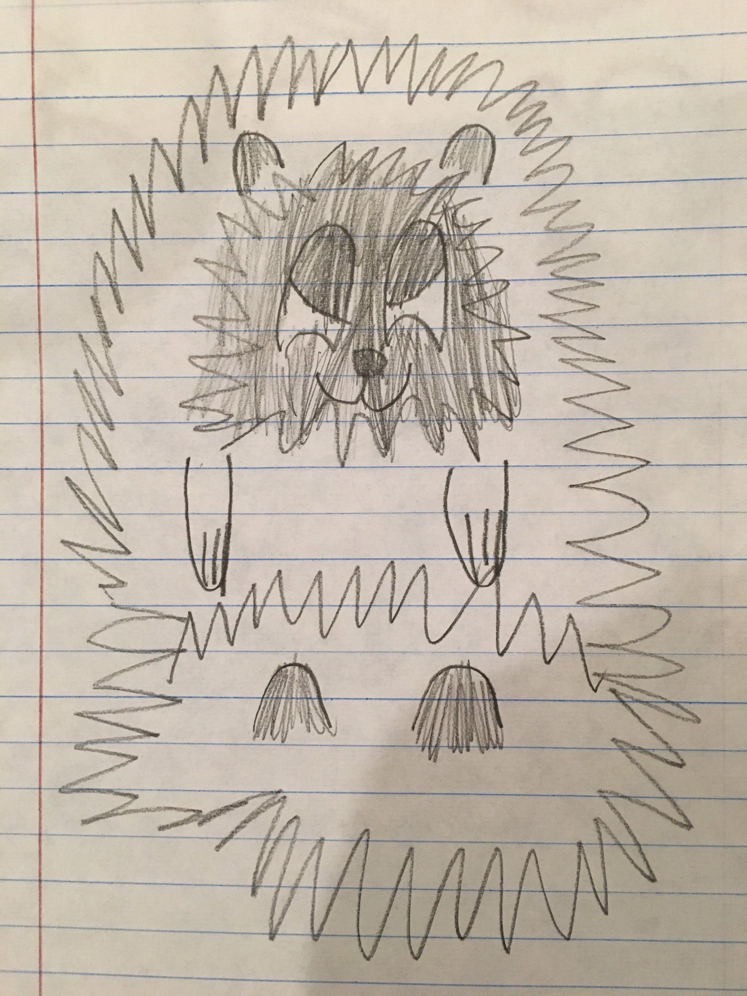 Hedgehog doodle by Ellie