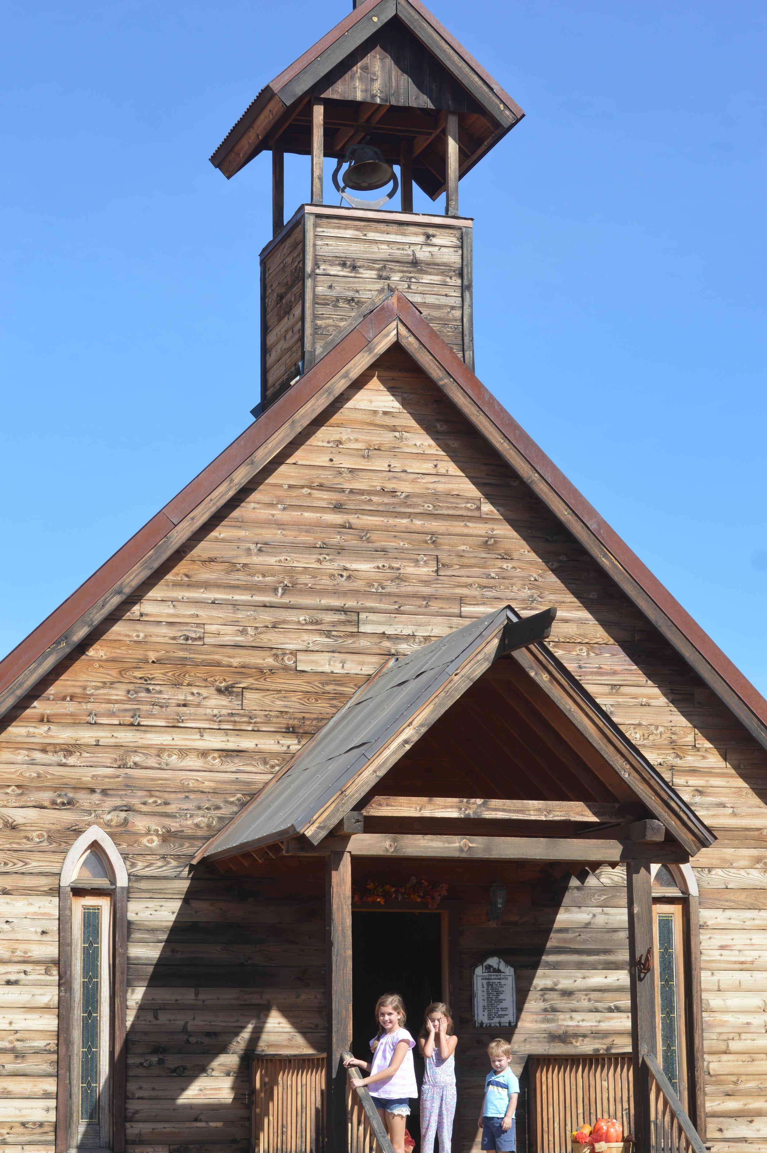wild west town church
