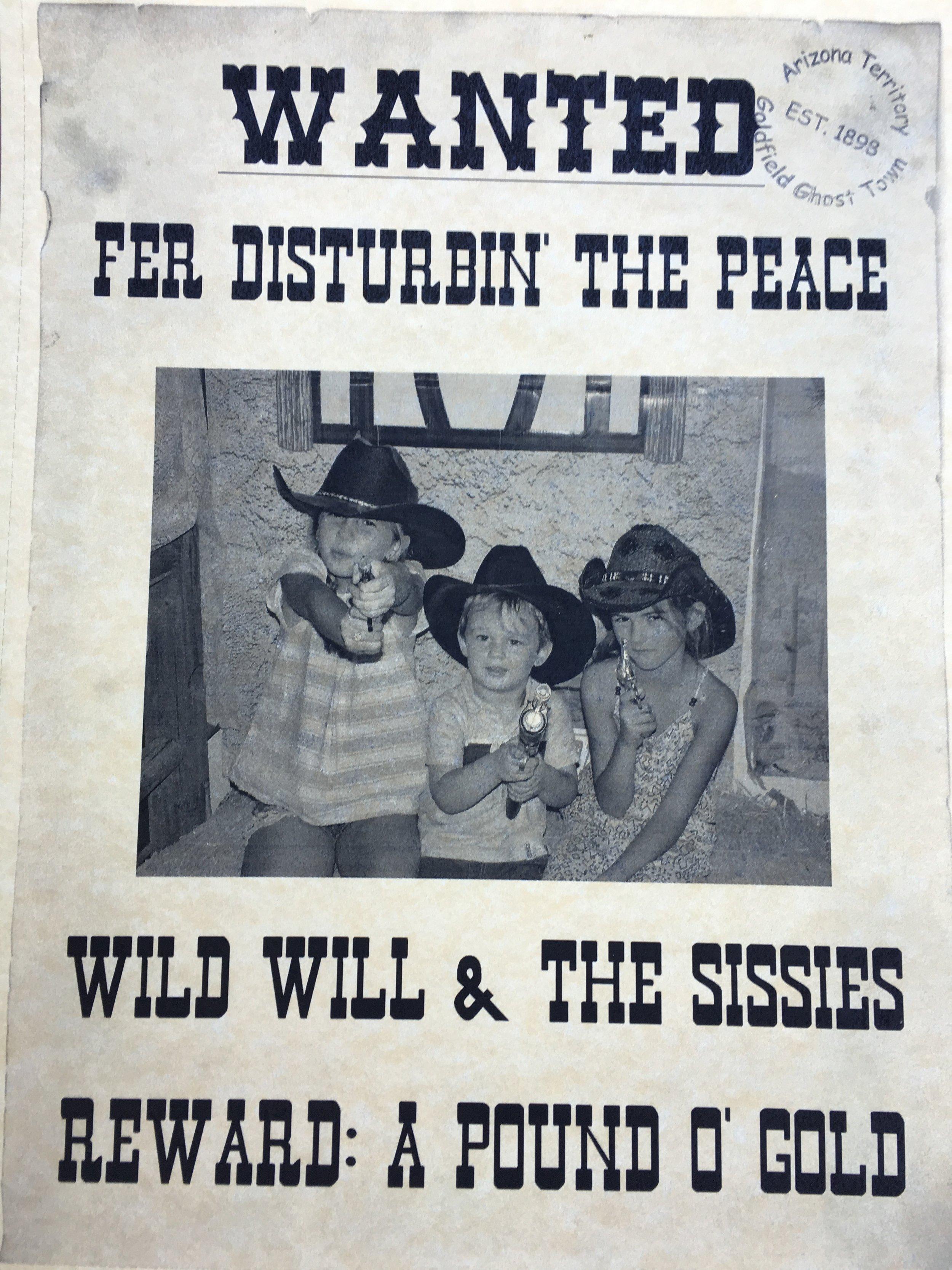 wild west town with kids
