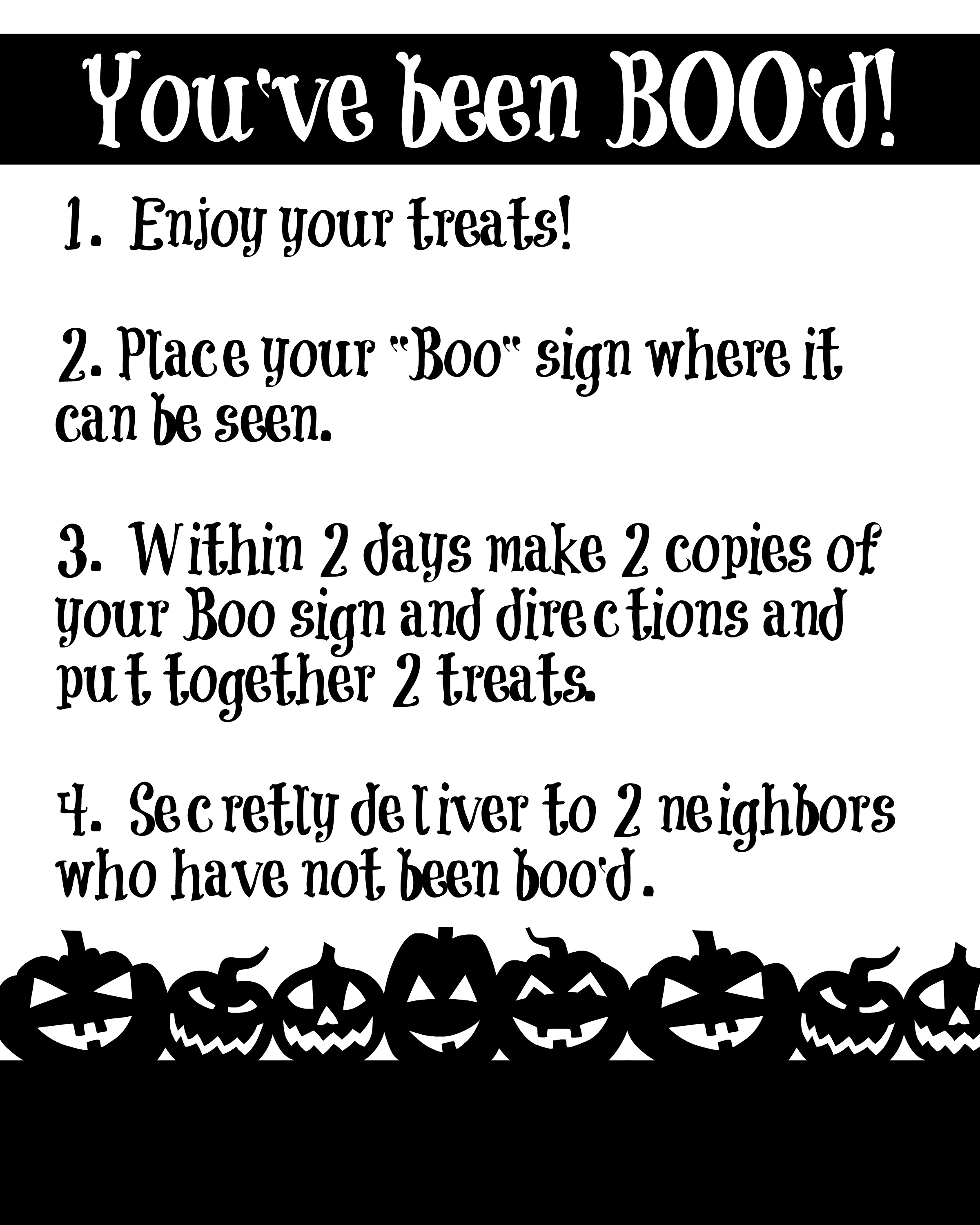 How to Boo Your Neighbors