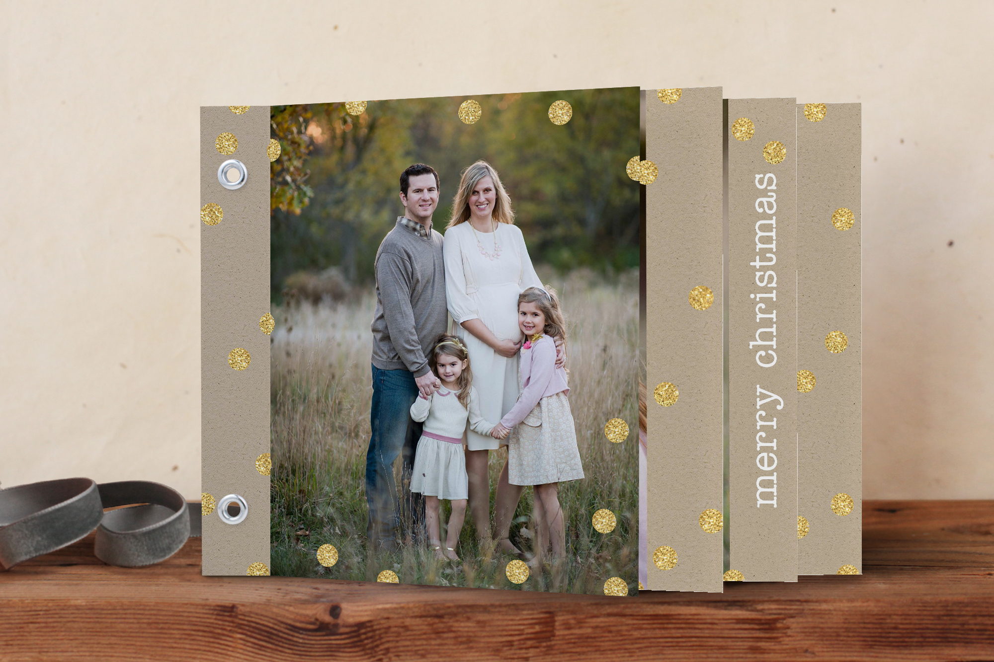 Minted Minibook Holiday Card