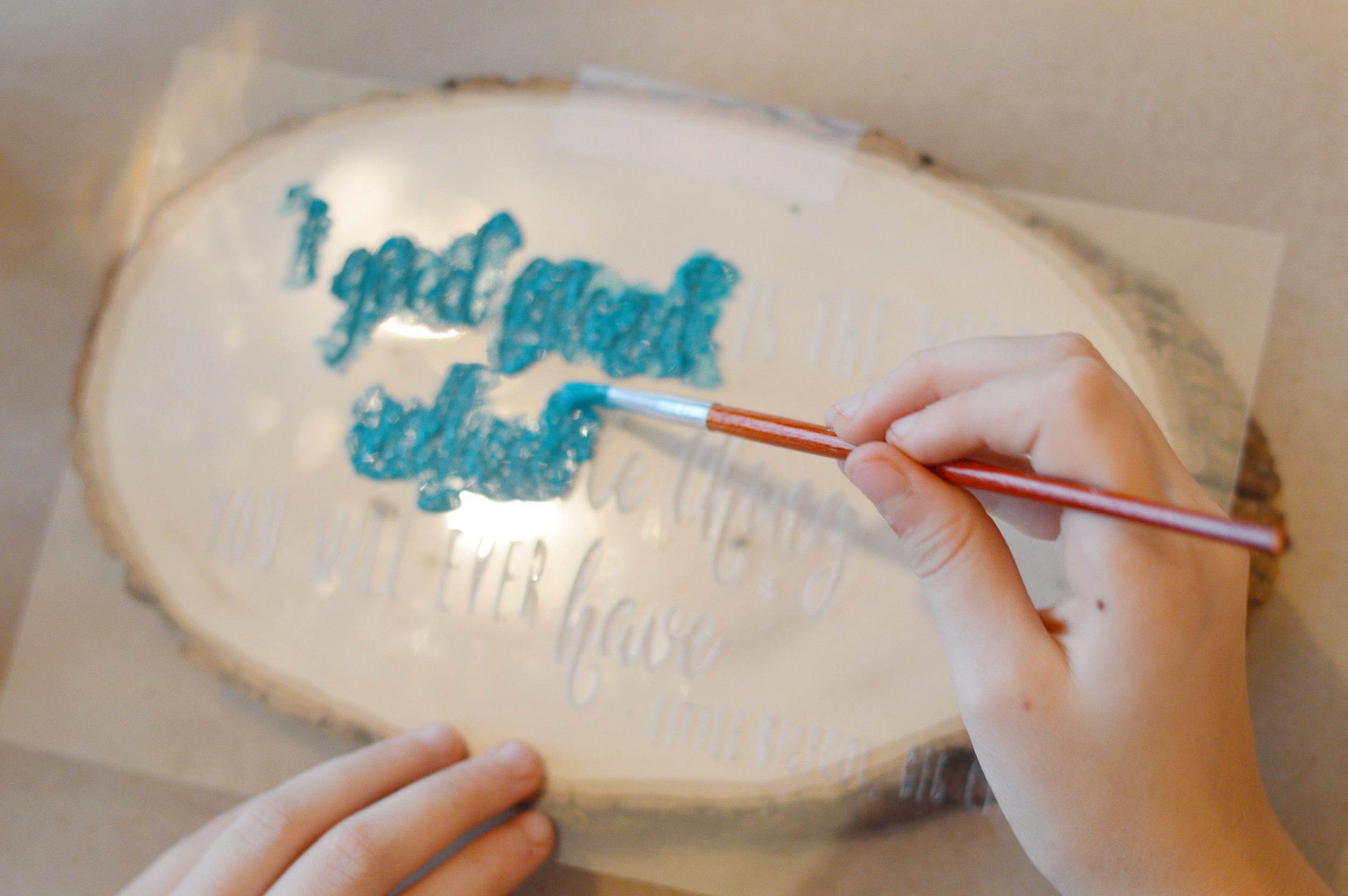 stenciling for kids