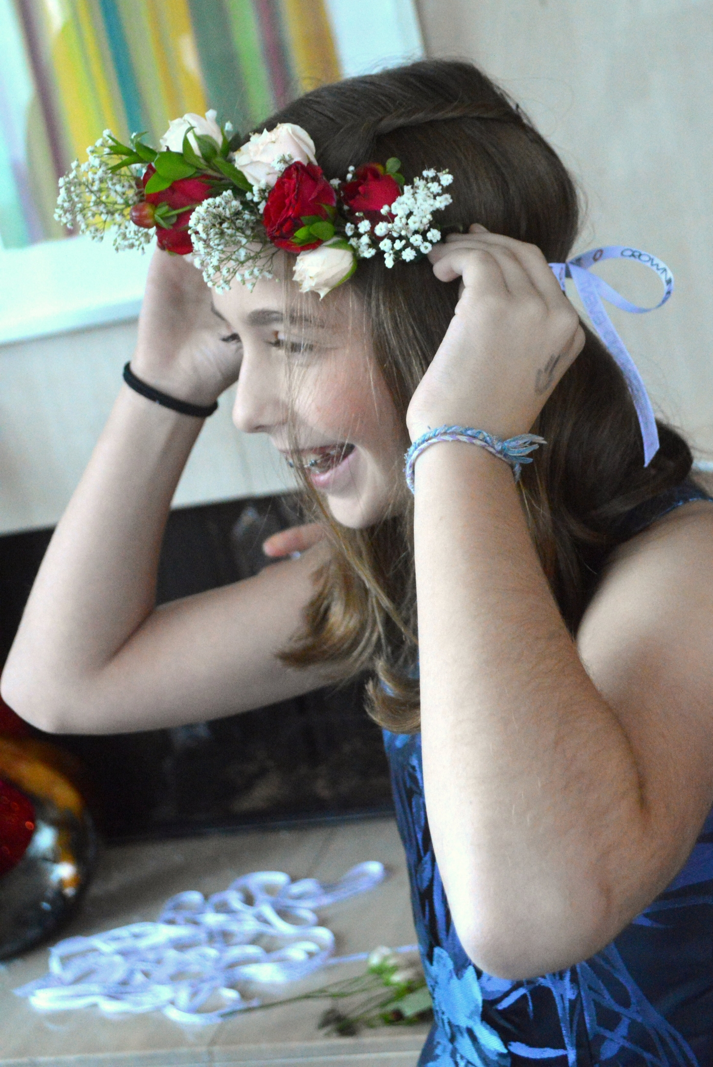 crowning event flower crown