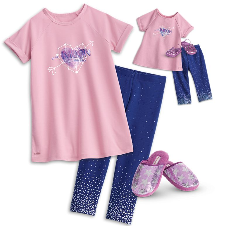 American girl matching pajamas