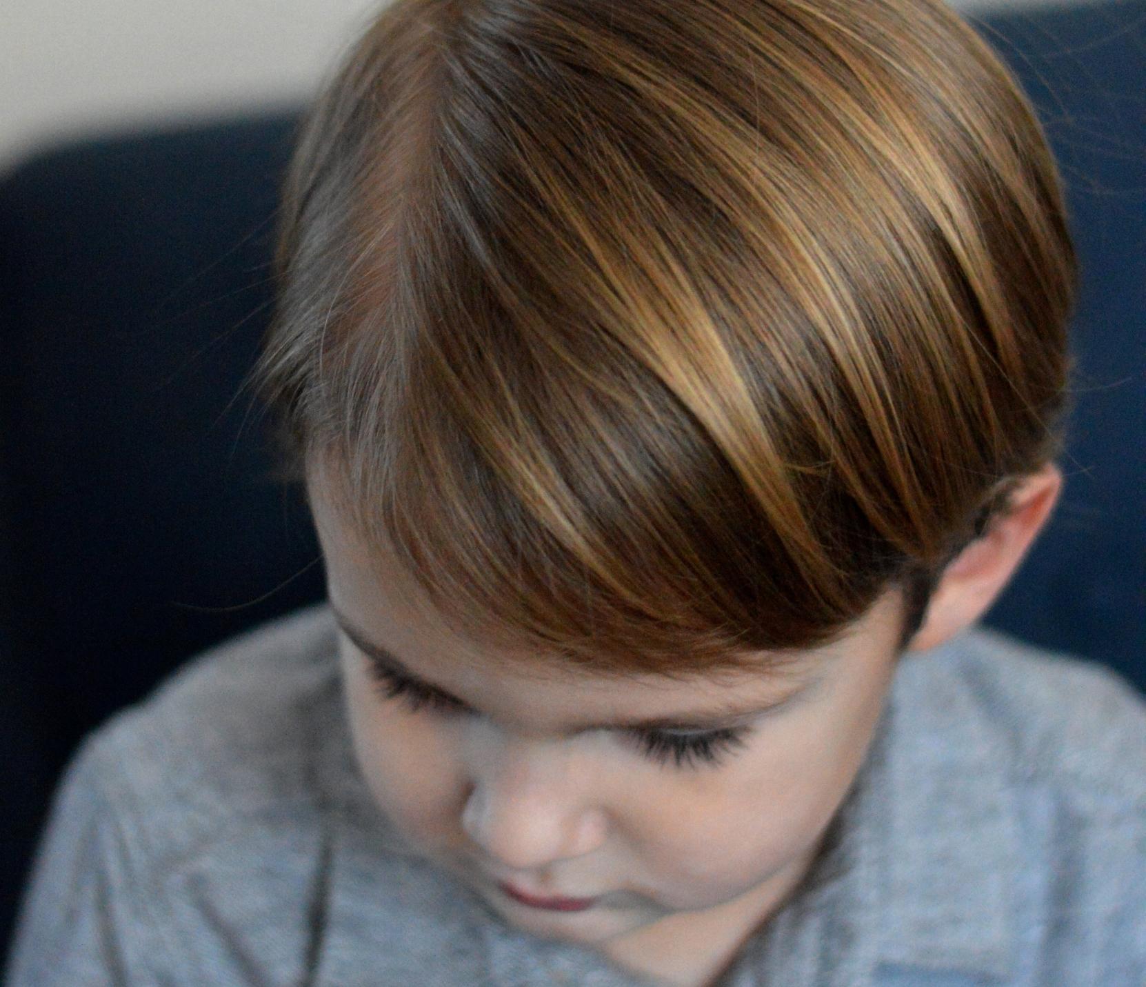 DIY boys hair cut in your kitchen