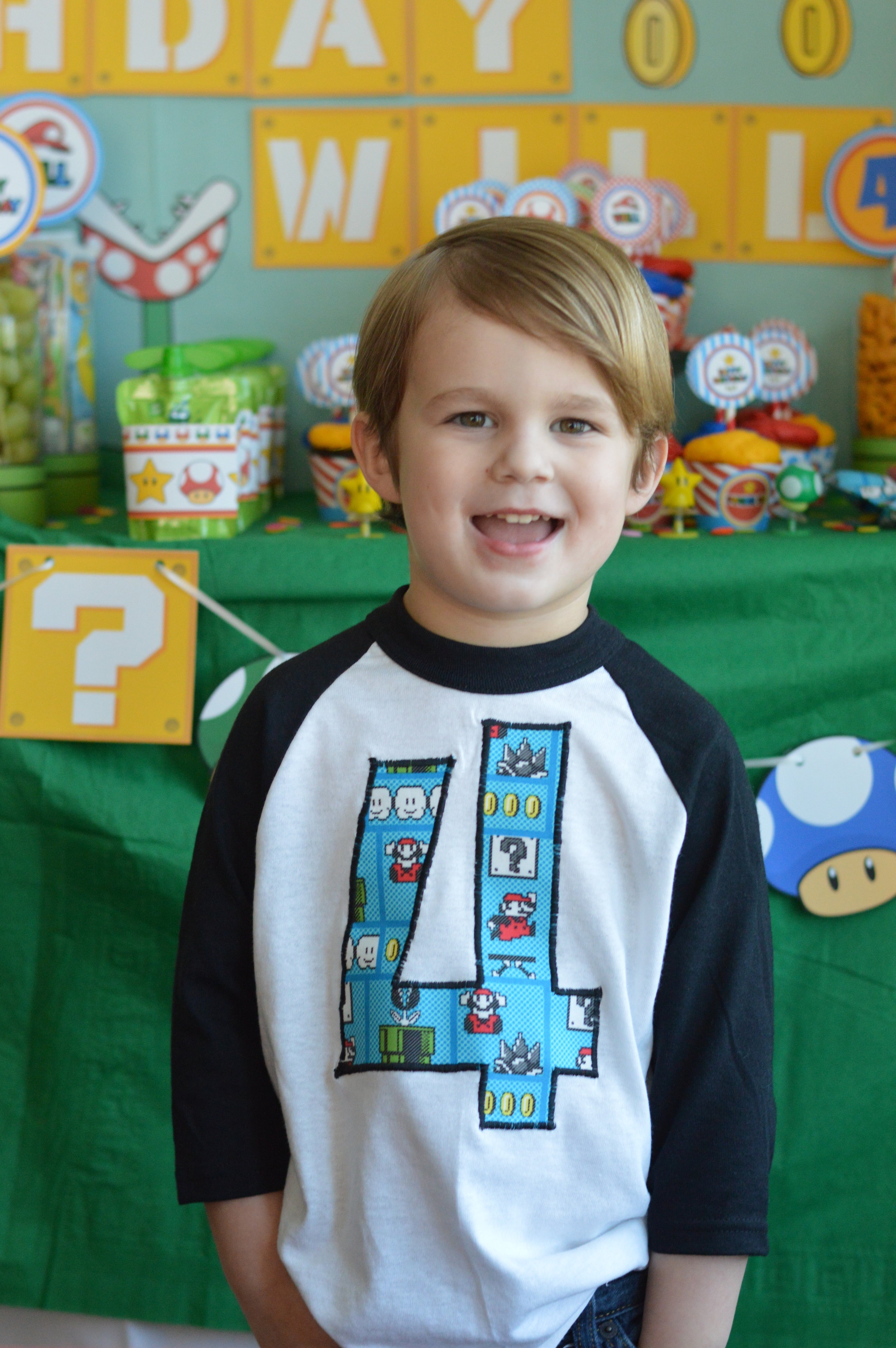super Mario birthday shirt