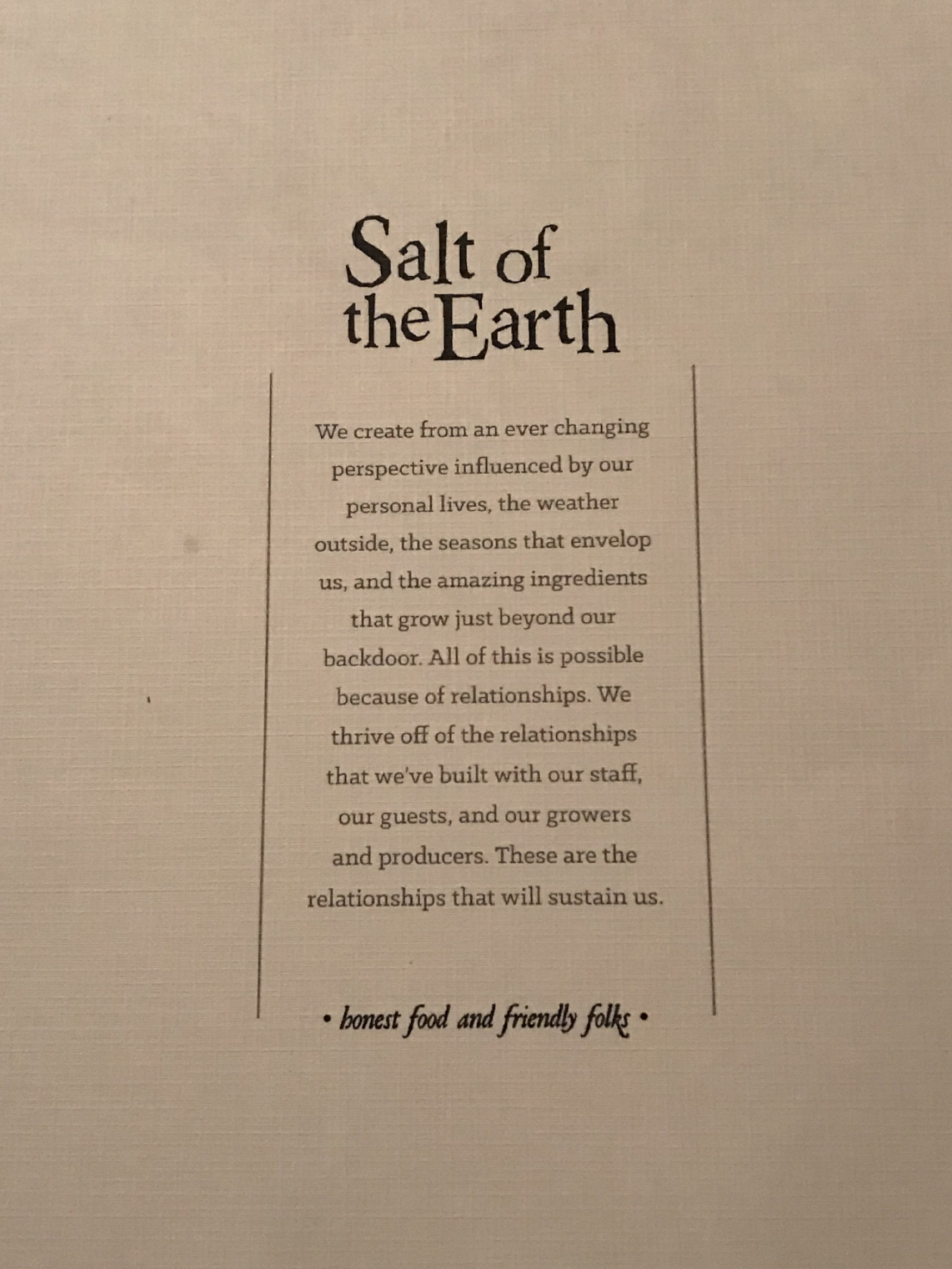 Salt of the Earth Fenville