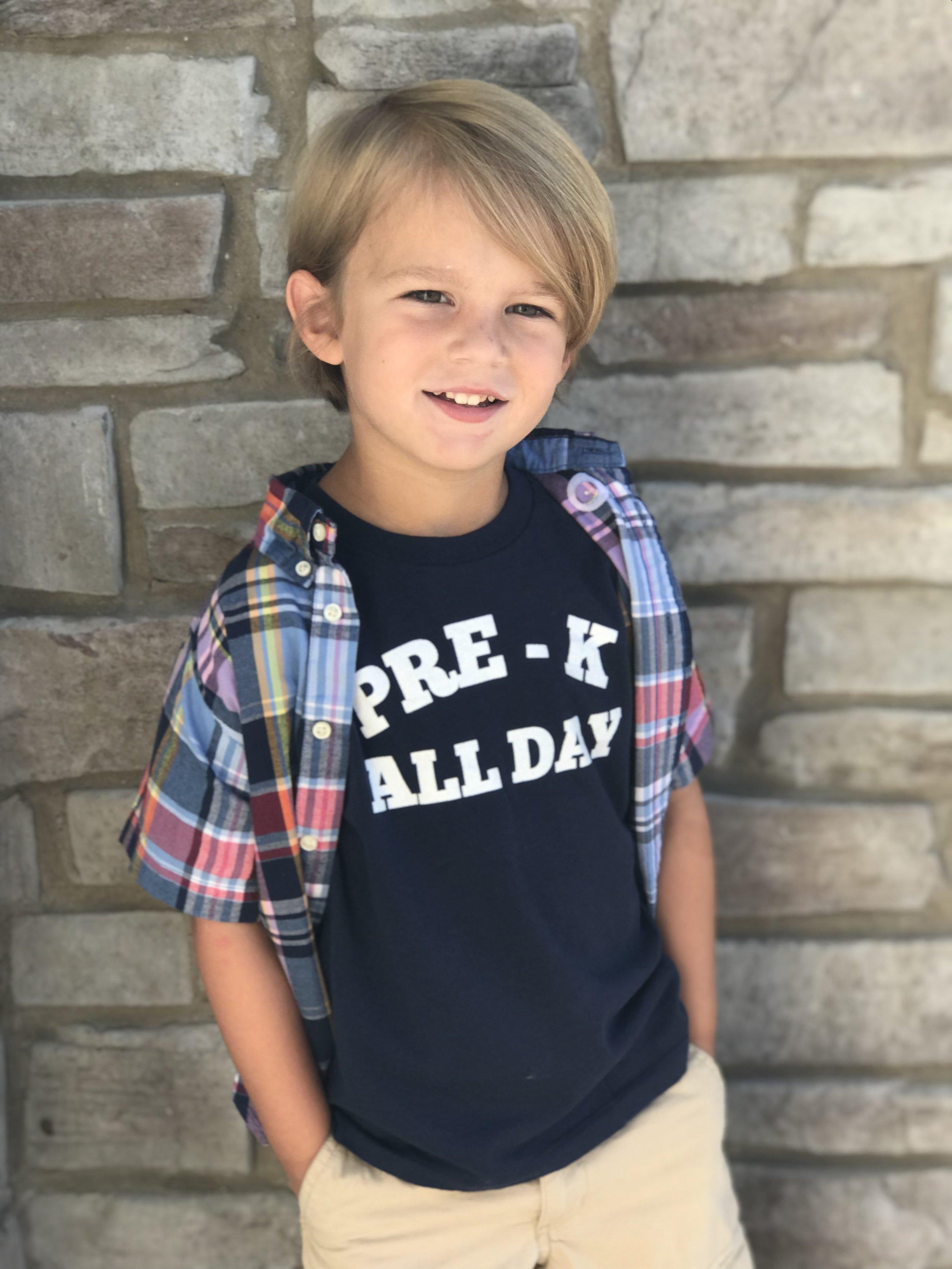 PRE-K ALL DAY  shirt available in our  Etsy shop.